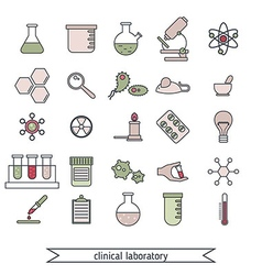 Clinical laboratory icons set vector image