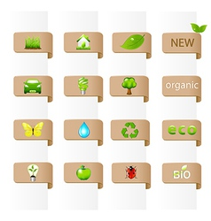 Collection Of Ecology Signs vector image