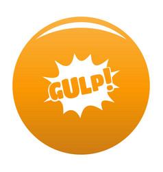Comic boom gulp icon orange vector