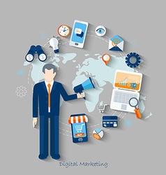 concept digital marketing vector image