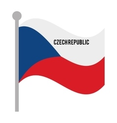 Czech republic patriotic flag isolated icon vector