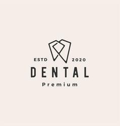 Dental hipster vintage logo icon vector