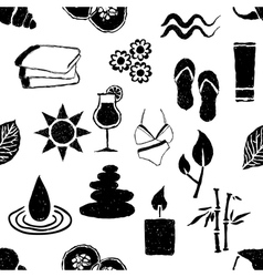 Doodle spa seamless pattern vector