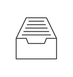 drawer outline icon vector image