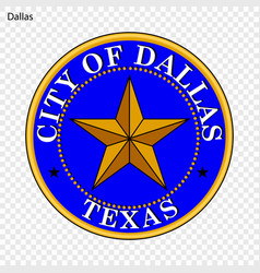 Emblem of dallas vector