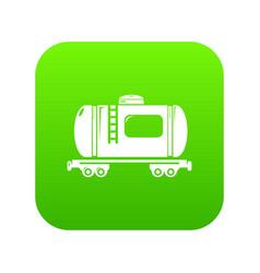 gasoline railroad tanker icon green vector image