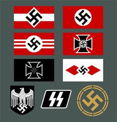 German Nazi Insignia Set vector image