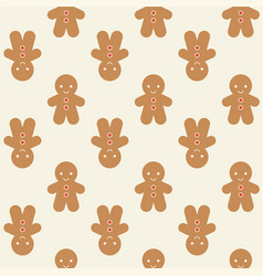 Ginger bread man background for christmas vector