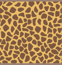 giraffe skin texture simple seamless pattern vector image