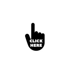 hand click flat icon vector image