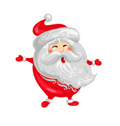 happy santa claus christmas and new year funny vector image