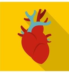 Heart icon flat style vector