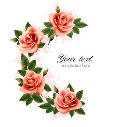 Holiday background with beauty flowers vector image vector image