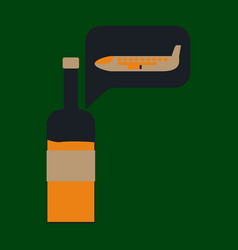 Icon in flat design alcohol duty free vector