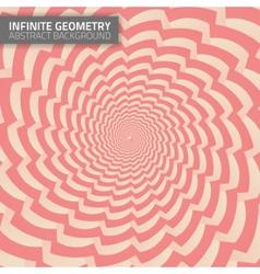Infinite geometry fractal background vector