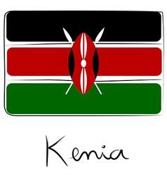 Kenia flag doodle vector image