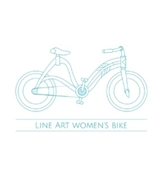 Line Art Womens Bike Two vector