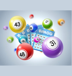 Lotto balls and lottery tickets with numbers vector