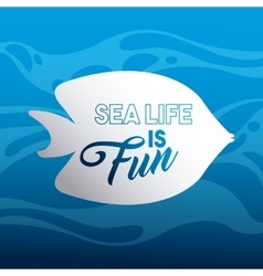 marine and sea life design vector image