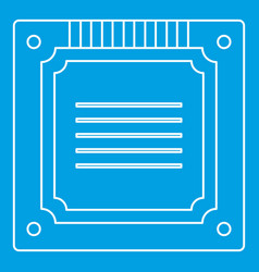 Modern multicore cpu icon outline vector