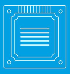 Modern multicore cpu icon outline vector
