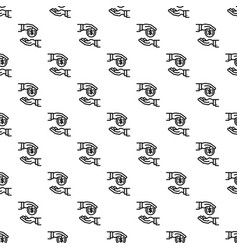 money coin corruption pattern seamless vector image