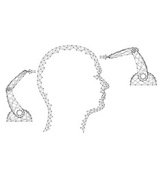 Neurosurgery human head medical robotic vector