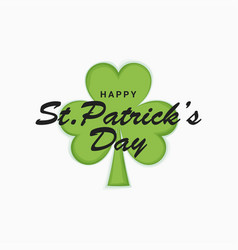 patrick day clover on white design background vector image