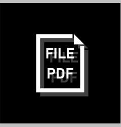 pdf file icon flat vector image
