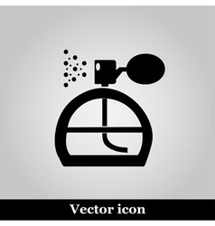 Perfume icon on grey background vector image