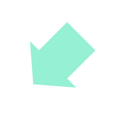 pointer arrow in modern flat style arrow button vector image