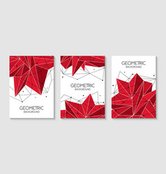 polygonal abstract futuristic red template low vector image