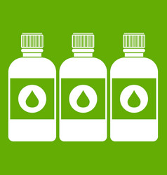 printer ink bottles icon green vector image