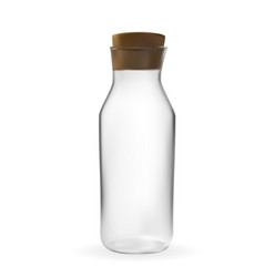realistic 3d model of glass bottle with lid vector image