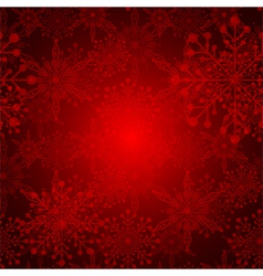 Red Christmas Snowflake Background vector image