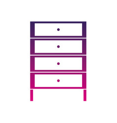 Silhouette cabinet archive file document with vector