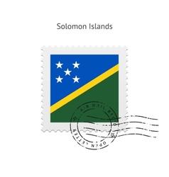 Solomon Islands Flag Postage Stamp vector