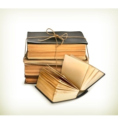Stack old books vector
