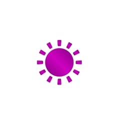 Sun Icon Flat design style eps 10 vector