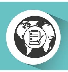 Symbol checklist report patient medicine icon vector
