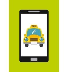 Taxi service app smartphone vector