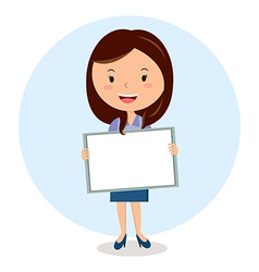 Teacher with whiteboard vector image