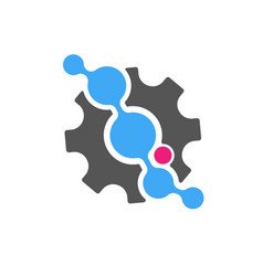 techno - logo template concept vector image