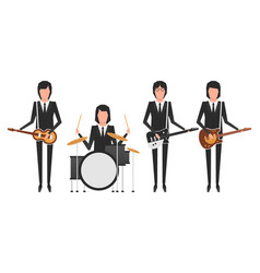 The beatles band topics vector