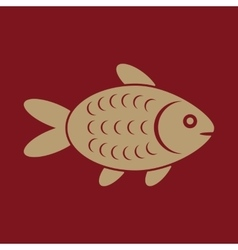 The fish icon Fish symbol Flat vector