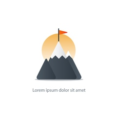 Top achievement mountain peak icon big challenge vector
