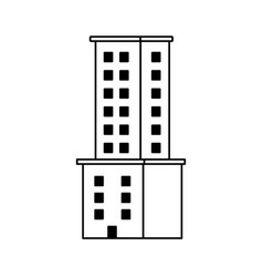 Tower city business architecture apartment and vector