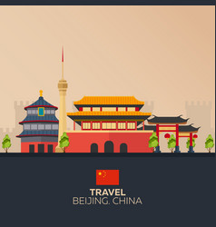 trip to china vacation road trip tourism vector image