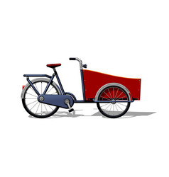 urban family cargo bike flat urban cargo vector image