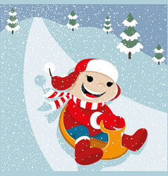 Winter fun in the snow vector